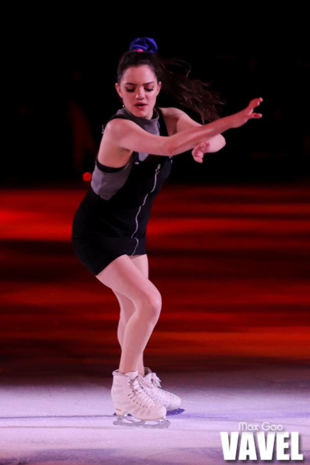 Evgenia Medvedeva skating during one of the group numbers at the Stars on Ice show in Toronto on May 3, 2019.