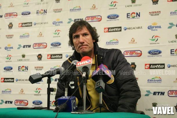 Gabriel Caballero en conferencia de prensa