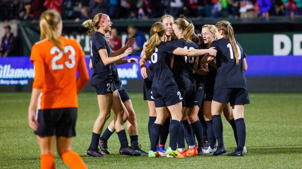 The Portland Thorns came out with the first goal as the Houston Dash finalized the game to a 1-1 score. | Source: Portland Thorns