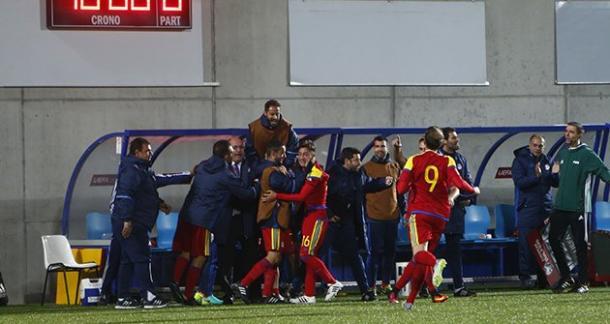 Andorra celebra el gol de Alexandre | Foto: FAF