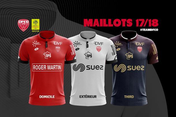 Maillots du DFCO pour la saison 2017/2018
