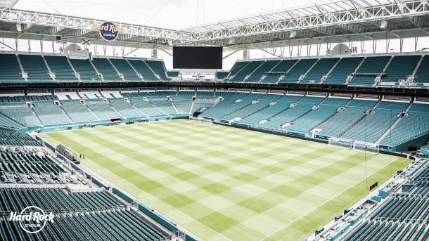 Hard Rock Stadium, hogar de los Miami Dolphins   Foto: Hard Rock Stadium Twitter
