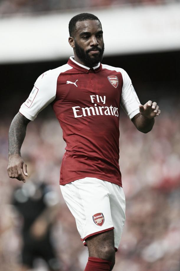 Alexandre Lacazette tuvo su oportunidad con un remate al poste | Foto: Arsenal Twitter