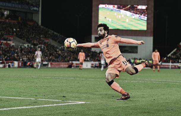 Mohamed Salah lleva 12 goles en 14 partidos | Foto: Liverpool