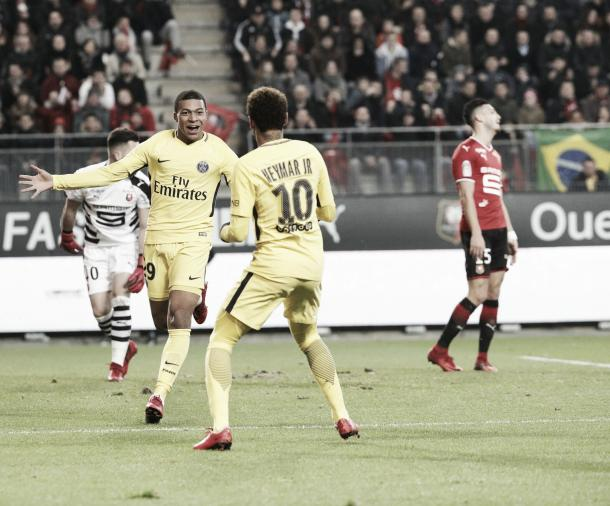 Neymar y Mbappé, una sociedad que no para de brindar goles | Foto: PSG