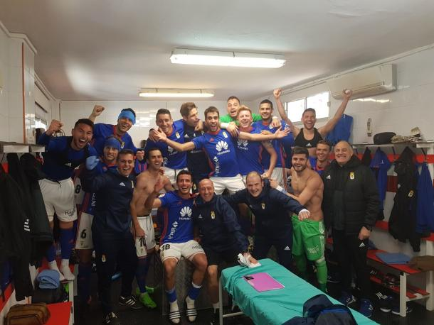 La imagen de un equipo que da imagen de equipo.   Imagen: Real Oviedo