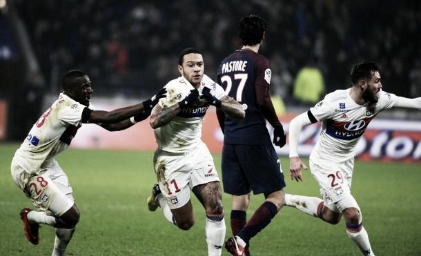 Depay anotó el gol que le dio la victoria al Lyon | Foto: Lyon