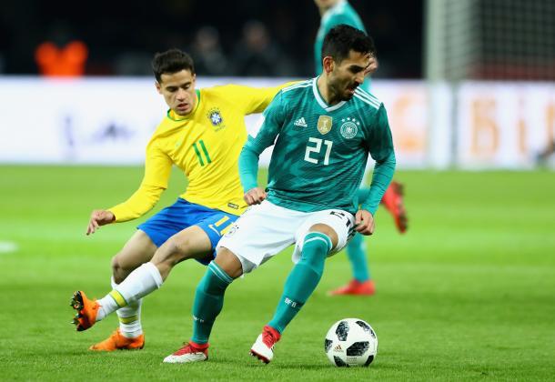 Ilkay Gundogan durante el amistoso ante Brasil en Berlín | Foto: Federación Alemana de Fútbol