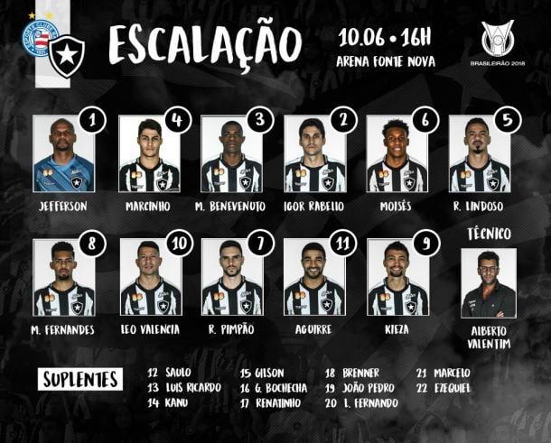 Twitter @Botafogo