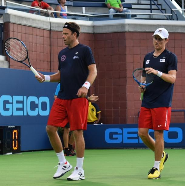 Lindstedt (l.) and Ebden (r.) in action for Washington during their World TeamTennis match/Photo: John Lupo/VAVEL UK