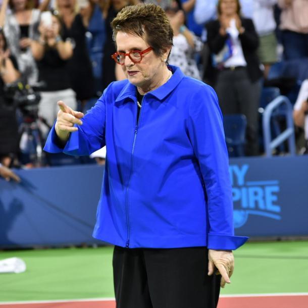 King during the ceremony honoring women in sports/Photo: John Lupo VAVEL UK