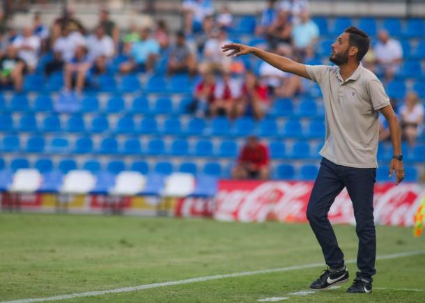 Lluís Planagumà durante el Hércules-Murcia del Trofeo Ciudad de Alicante | Foto: Hércules