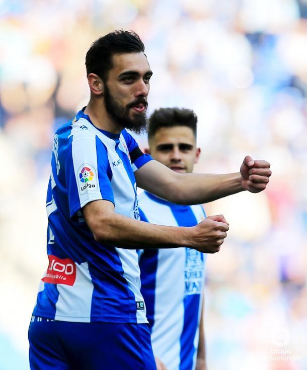 Iglesias celebra el 1-0. Foto: La Liga