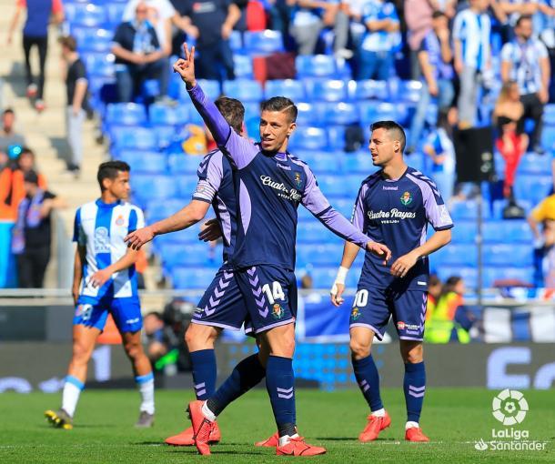Alcaraz marcó el 1-1. Foto: La Liga.