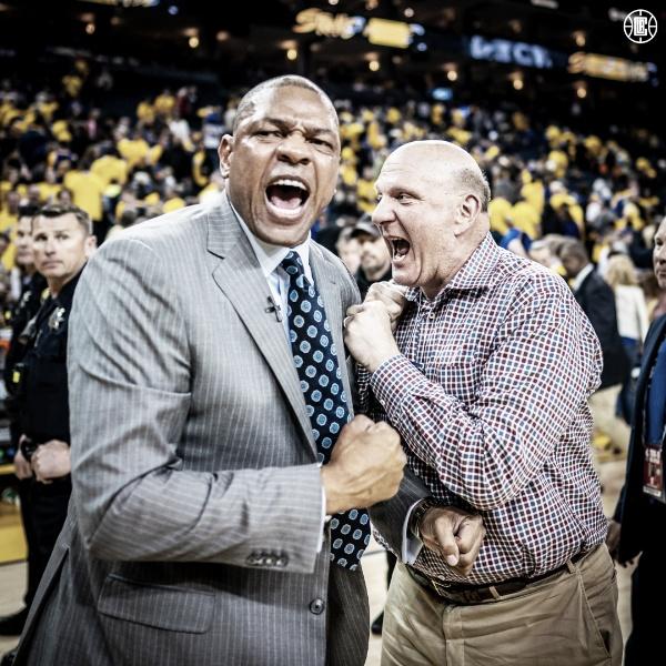 Doc Rivers eufórico tras el increíble triunfo. Foto: Clippers