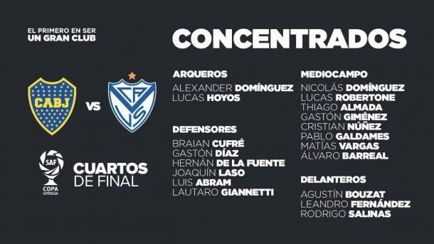 Concentrados del Fortín. | Fuente: Vélez Sarsfield.