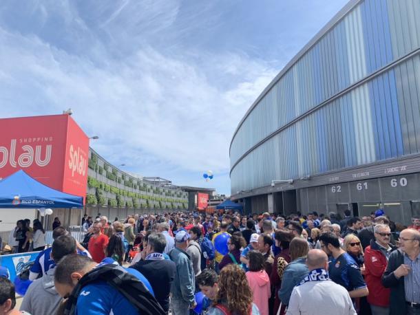 Los aledaños del RCDE Stadium. Foto: Twitter oficial RCD Espanyol