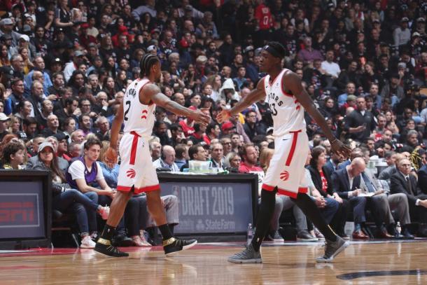 Leonard y Siakam fueron una dupla prolífica. Foto: NBA Stas
