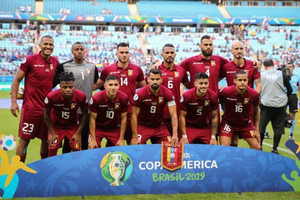 XI titular frente a Perú y posible frente a Brasil. | Fuente: Twitter Venezuela.