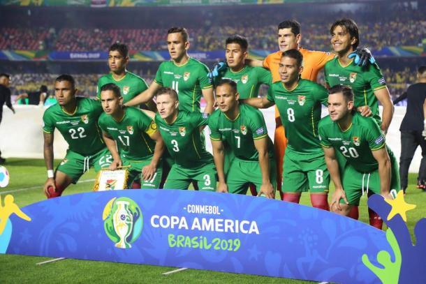 Los XI que saldrán a la cancha frente a Perú serían los mismo que enfrentaron a Brasil.   Fuente: Twitter Bolivia.