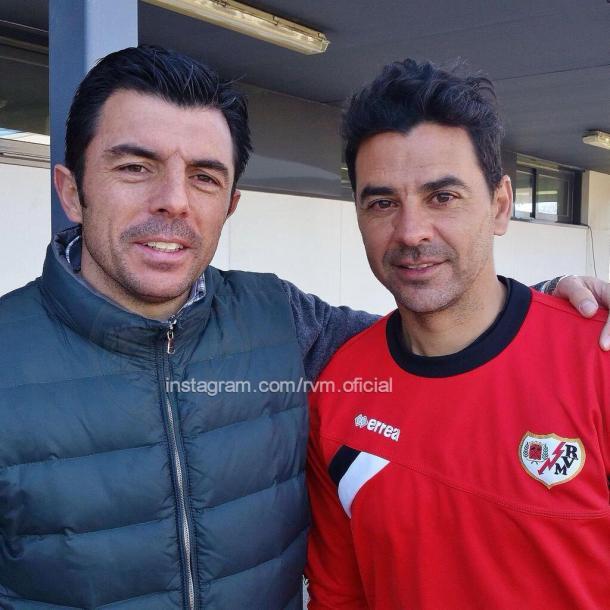 Luis Cembranos junto a Míchel, ambos como entrenadores rayistas.| Foto: Rayo Vallecano SAD