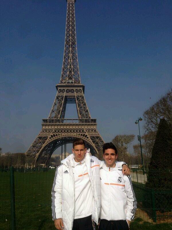 Pipe Sáez junto a Marcos Llorente durante su etapa de Juvenil con el Real Madrid. | Foto: twitter @Pipesaez3