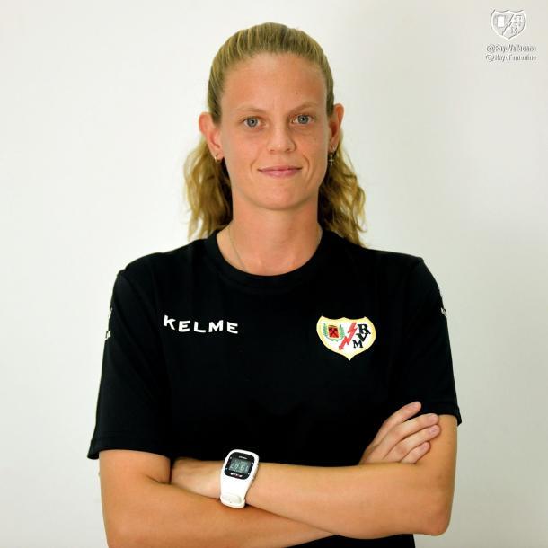 Irene Ferreras en su etapa como entrenadora del Rayo Femenino. | Foto: Rayo Vallecano S.A.D.