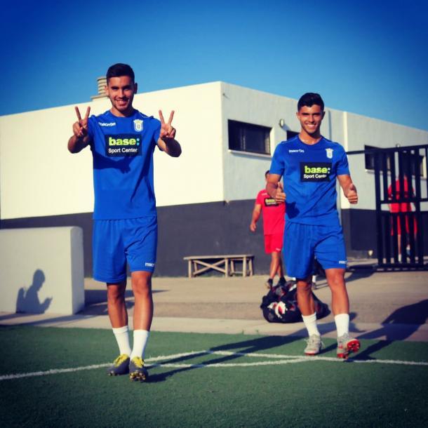 Mario Hernández en un entrenamiento con la UD Melilla. | Foto: twitter @mariohfdez