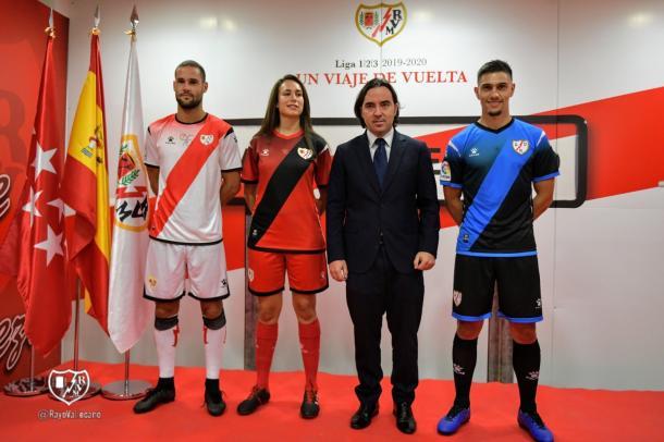Acto de presentación de las equipaciones 2019/20 del Rayo Vallecano. | Foto: Rayo Vallecano S.A.D.