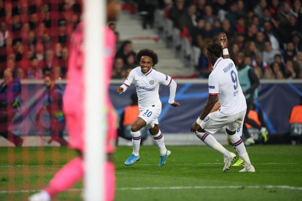 Willian fez seu 300º jogo com a camisa do Chelsea (Foto: Reprodução/Chelsea FC)
