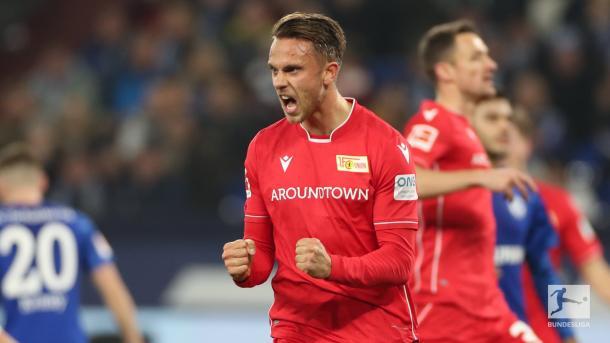 Até o intervalo, o Union fazia um belíssimo jogo (Foto: Reprodução/Bundesliga)