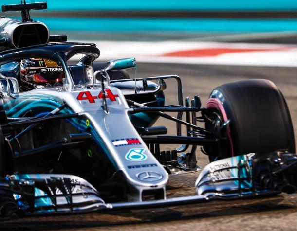 Sexto ano seguido que a Mercedes conquista a pole em Abu Dhabi (Foto: Reprodução/Mecedes)