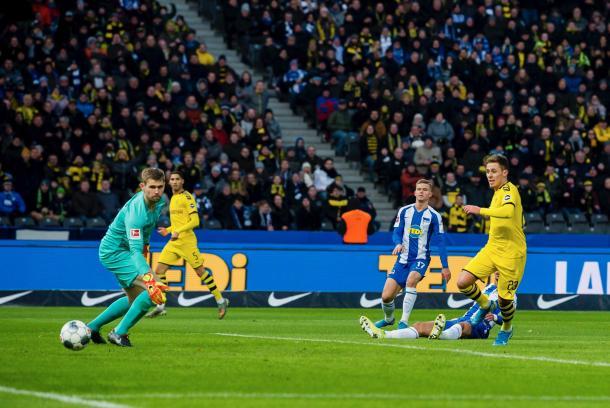 O gol de Hazard Foto: (Reprodução/BVB)