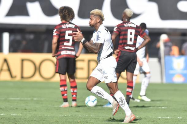Marinho fez seu oitavo e último gol no Brasileirão 2019 (Foto: Reprodução/Santos FC)