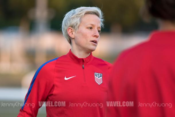 Megan rapinoe at the January training camp before the SheBelieves Cup | Source: Jenny Chuang - VAVEL USA