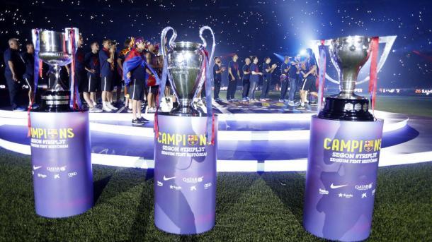 El triplete cosechado por el Barça de Luis Enrique. Foto: FCBarcelona