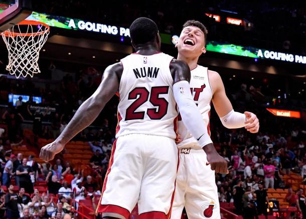 Kendrick Nunn y Tyler Herro I Foto: Miami Heat