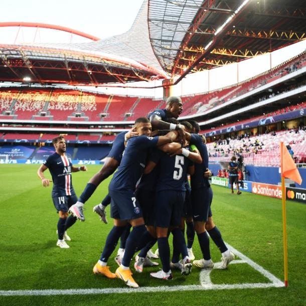 El PSG celebrando el primer gol / FOTO: PSG