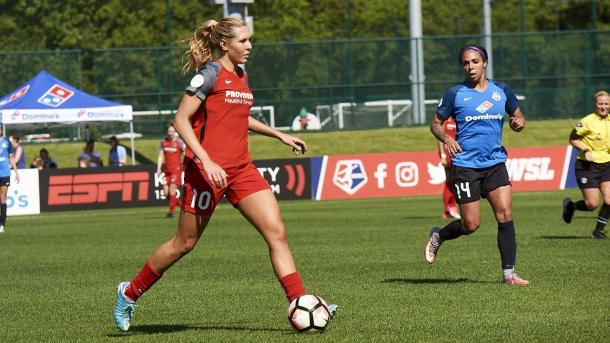 Allie Long looks to score her 30th NWSL goal | Source: Portland Thorns