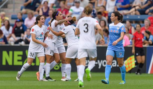 Sydney Leroux scored her fifth goal for FC Kansas City | Source: NWSL