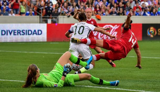 Both teams in play at the 2016 Olympic Qualifying Final | Source: Final Third Soccer - Michelle Morrison