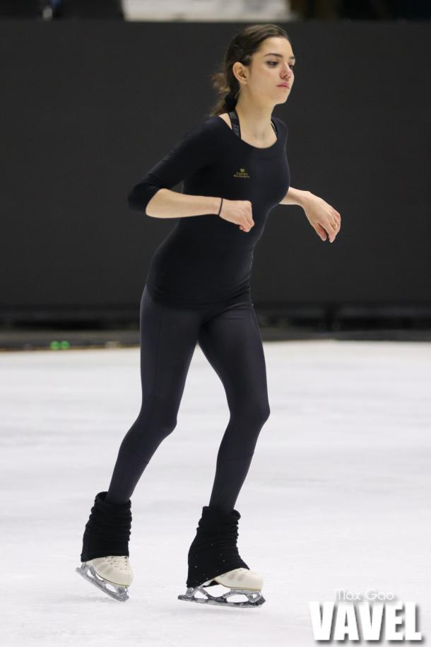 Evgenia Medvedeva warming up for the Stars on Ice show in Hamilton on May 4, 2019.