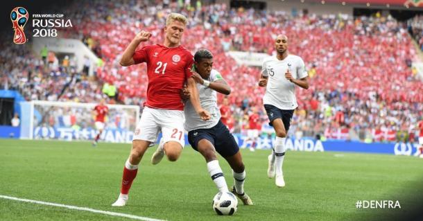 Partido igualado en el primer tiempo / Foto: Twitter oficial de la Copa del Mundo (@FIFAWorldCup)