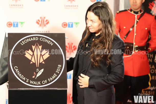 Leonard Cohen's daughter, Lorca, was there to accept the award on behalf of her late father.