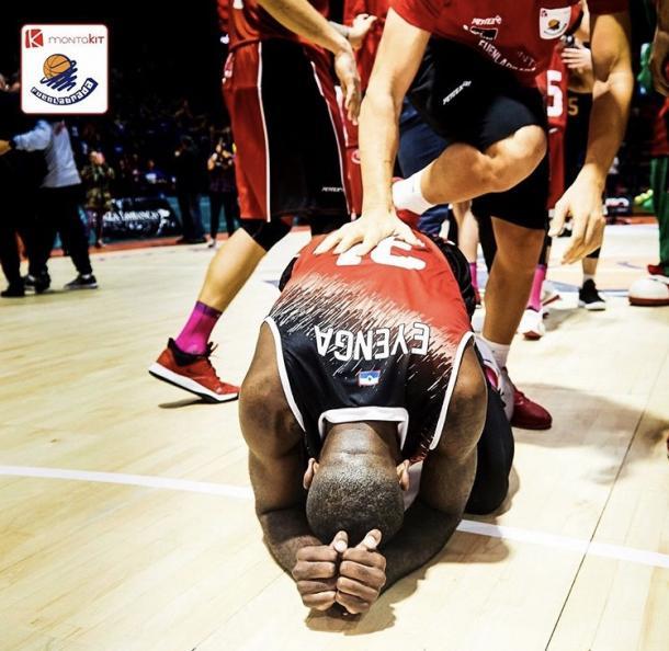 Eyenga, agotado, tras la última victoria de Fuenlabrada   Foto: @BFuenlabrada