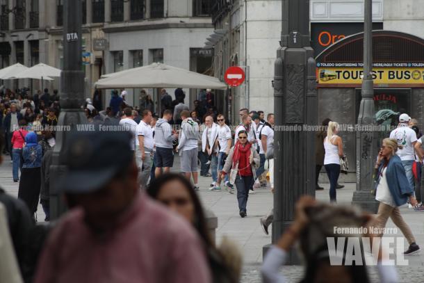 La Puerta del Sol suponía el principal punto de reunión polaca. | FOTO: Fernando Navarro - VAVEL España