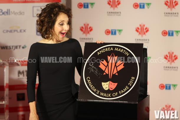 One More for the Road: Andrea Martin was by far the most expressive inductee of the night when the time came to see their stars for the first time.