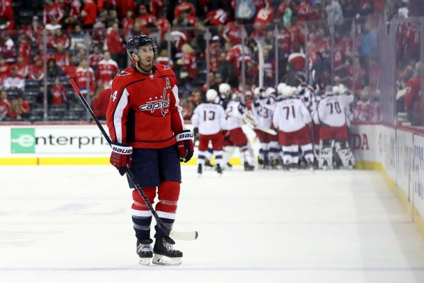The Washington Capitals look to come back from a 2-0 deficit against the Blue Jackets heading into game three. | Photo: Washington Capitals on Twitter