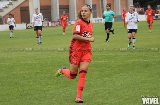 Naiara Beristain fue la protagonista del partido. Foto: Iñigo Hernández (VAVEL)