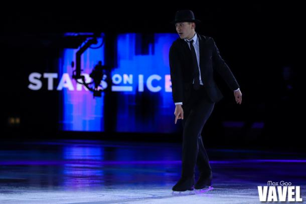 "Patrick Chan skating to Justin Timberlake's ""Suit & Tie/Rock Your Body"" at the Stars on Ice show in Hamilton on May 4, 2019."
